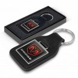 Baron Square Leather Key Ring TR