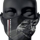 Besiktas Face Mask Black White