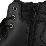JB'S STEELER ZIP LACE  SAFETY BOOT BLACK