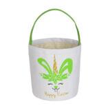 Unicorn Canvas Happy Easter Bunny Basket