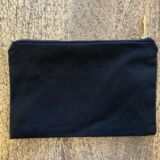 Black canvas with Gold zip