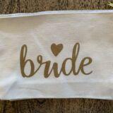 Natural Bride Canvas Bag Gold Zip