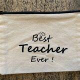 Best Teacher Zip Canvas