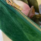 Green Velvet Cosmetic Bag