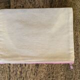 Canvas cosmetic bag with Pink zip